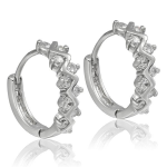 Genuine White Topaz earrings